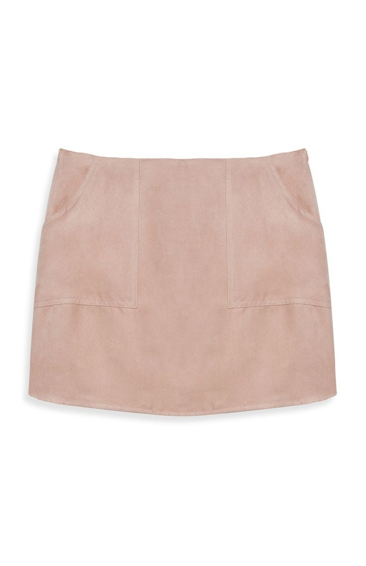 Primark Pink Suede Mini Skirt, £6