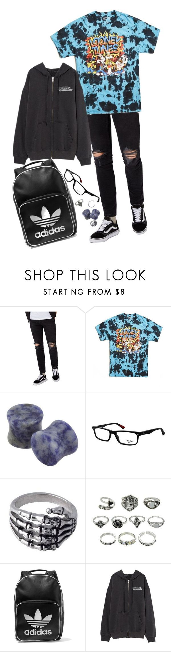 """im done with you"" by fall0uterin ❤ liked on Polyvore featuring Topman, 21 Men, Lazuli, Ray-Ban, Anello and adidas Originals"