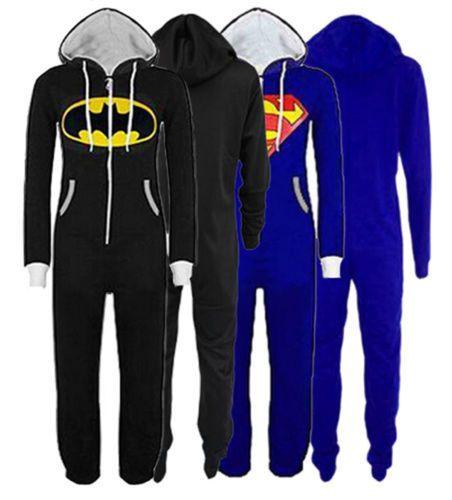 Batman Superman Spielanzüge Jumpsuit Overall Onesie Sweatshirt Jogger Kapuze   eBay