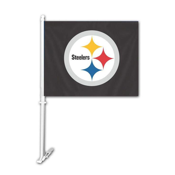 Pittsburgh Steelers Mascot Car Flag