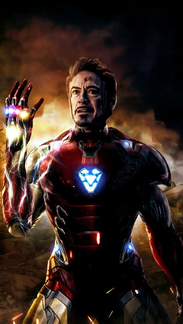 Iron Man Iron Infinity Gauntlet Avengers End Game Fondo De