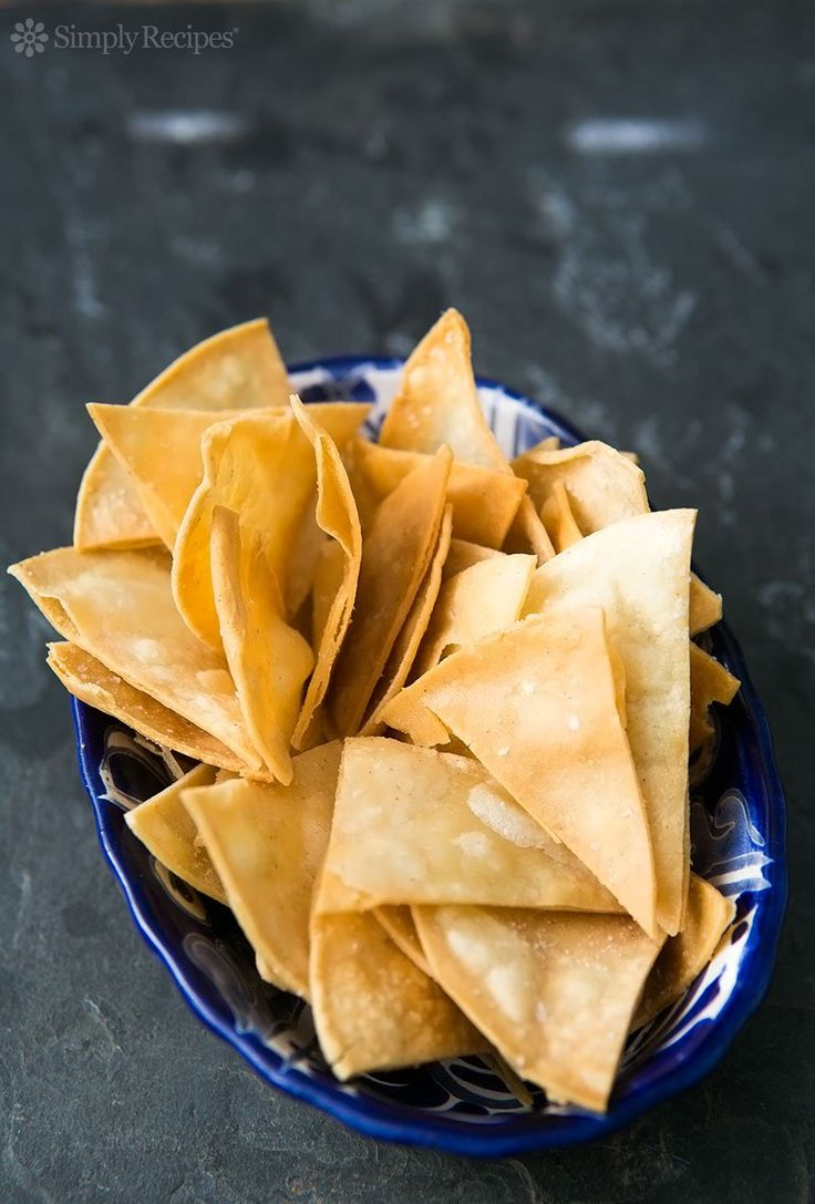 How to Make Homemade Tortilla Chips ~ Perfectly fresh and crunchy homemade tortilla chips, fried, baked, or microwaved. It's so easy to make your own! ~ SimplyRecipes.com