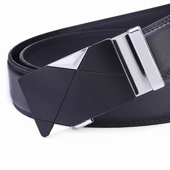 120CM Mens Belt Peritoneal Second Layer Leather Business Automatic Alloy Buckle Strip at Banggood