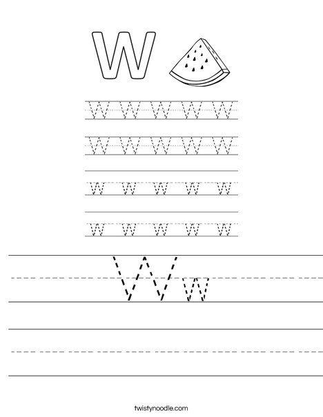Ww Worksheet - Twisty Noodle | Worksheets, Literacy, Kids ...