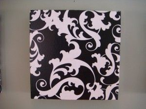 DIY art canvas.  Super easy!  I'm starting to wonder why I've ever purchased wall art from a store
