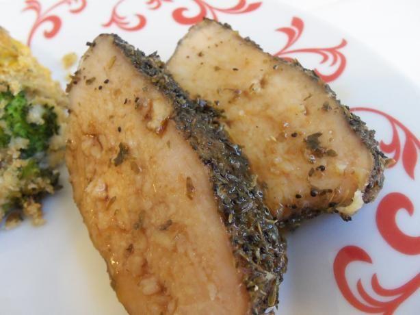 Slow Cooker Herb Crusted Pork Tenderloin   Recipe