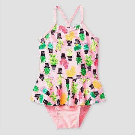 Toddler Girls' Cactus One Piece Swimsuit Cat & Jack™ - Pink