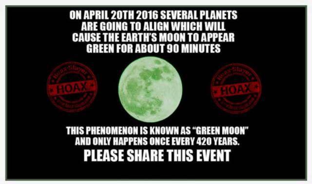 Green Moon Hoax