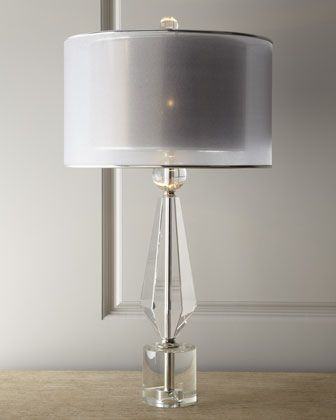 Double Shade Crystal Lamp