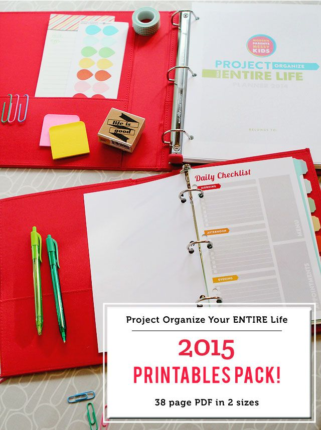 """""""Project Organize Your ENTIRE Life"""" Planner Printables Now Available!"""