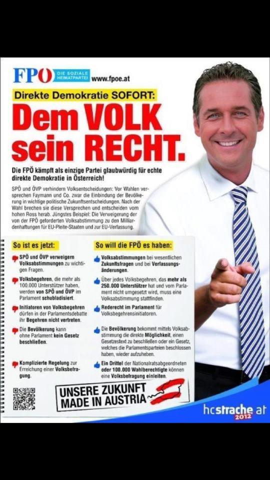 Dem Volk sein Recht - Heinz Christian Strache - https://plus.google.com/u/0/101700768890016369861/posts | #FPÖ #hcstrache #Österreich #Wien #Vienna