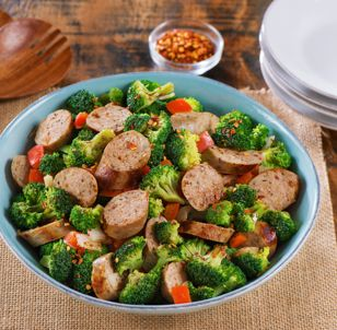Sundried Tomato Chicken Sausage Broccoli Salad