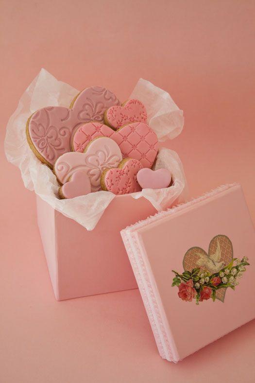 Beautifully packaged pink sugar cookies