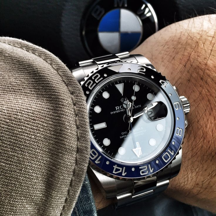 Rolex GMT Master II - 116710 BLNR. Purchased from UK jewellers in October 2014 with with 160 documentation. Signed and dated new style COSC/warranty card. Stainless steel case, diameter 40mm excluding crown. Water resistant to 100 meters. Black dial with date located at the 3 o'clock. Rolex 3186 automatic movement with 24 hour complication. Blue and Black Cerachrom bezel. Immaculate condition and available for immediate delivery or collection. £5500.00