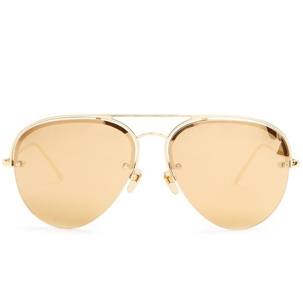 Linda Farrow Mirrored yellow-gold plated aviator sunglasses ($1,005) ❤ liked on Polyvore featuring men's fashion, men's accessories, men's eyewear, men's sunglasses, yellow gold, mens gold sunglasses, linda farrow mens sunglasses, mens gold aviator sunglasses, mens mirrored aviator sunglasses and men's mirrored sunglasses