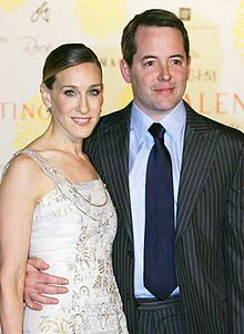 "hollywood couples -Mathew Broderick (Ferris Bueller) and Jessica Parker (Sex and the City)Thank you Mathew Broderick for taking pictures for ALL the fans after your play ""Nice Work if you can get it"".   K. I. N. D"