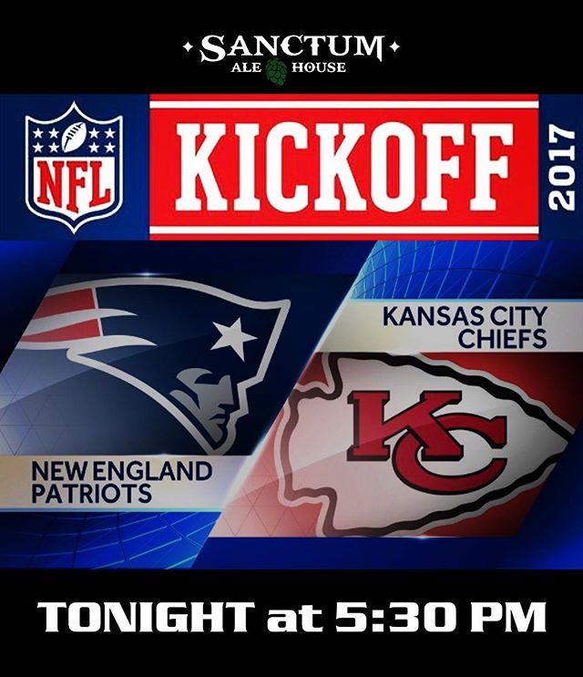 Join us tonight for The 2017 NFL Kick off. New England Patriots vs the Kansas City Chiefs @ 5:30 pm. NFL + Craft Beer + Good Vibes. #sanctumalehouse #craftbeer #nfl #chulavista #southsandiego #beer #ipa #chummychuck #sandiegobeer #southbay #2017 #craftbeernotcrapbeer #craftbeerlife #2017nflseason #sandiego #sandiegoconnection #sdlocals #sandiegolocals - posted by Sanctum Ale House https://www.instagram.com/sanctumalehouse. See more San Diego Beer at http://sdconnection.com