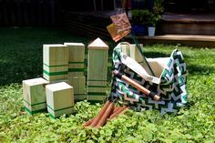DIY Backyard Games: How to Make a Kubb Game Set