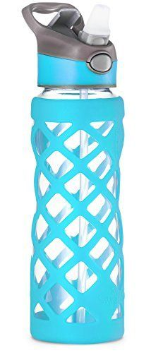 Swig Savvy 25oz Glass Water Bottle - Protective Silicone