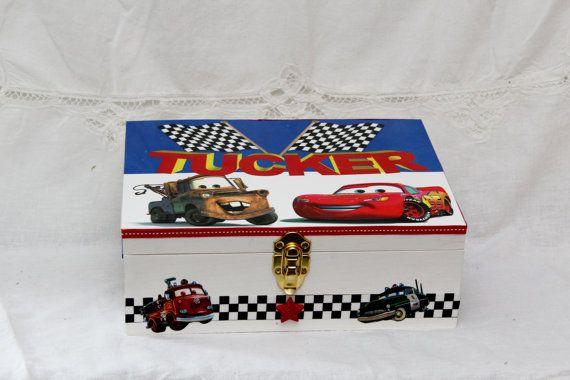 Cars Themed Memory Box Chldren Memory Box Baby by MemoryBoxShopp