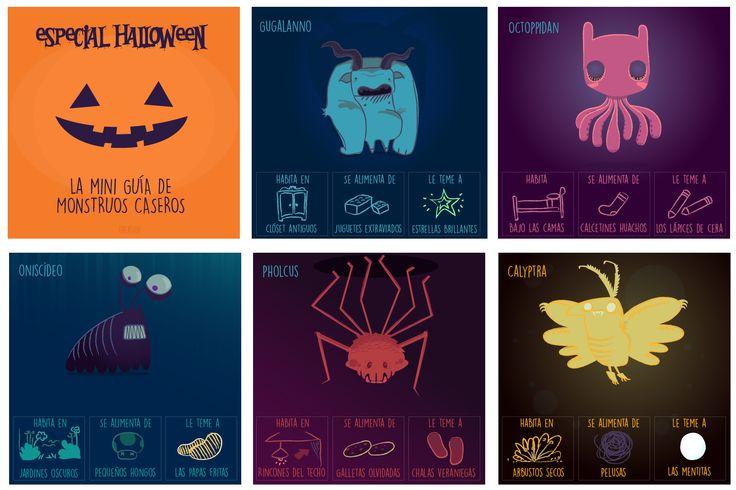 Especial Halloween - La Mini Guía de Monstruos Caseros. :) #halloween #monster #guide #ilustración #sketch #characterdesign #monstruos #drawing #art