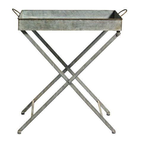 Tisch Tablett Zink Zinktisch Garten Grau Metall Nordal Klappbar | EBay