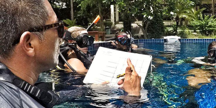 PADI Instructor Training - Pool Scoring - Crystal Dive Koh Tao
