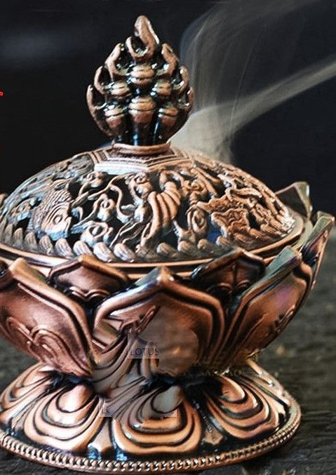 This exotic incense burner is a mini - measures 2.7 x3.1 x 2.2 - that can fit just about anywhere. Enjoy your favorite incense aroma coming from a unique burner that doesn't take up much space. Very u