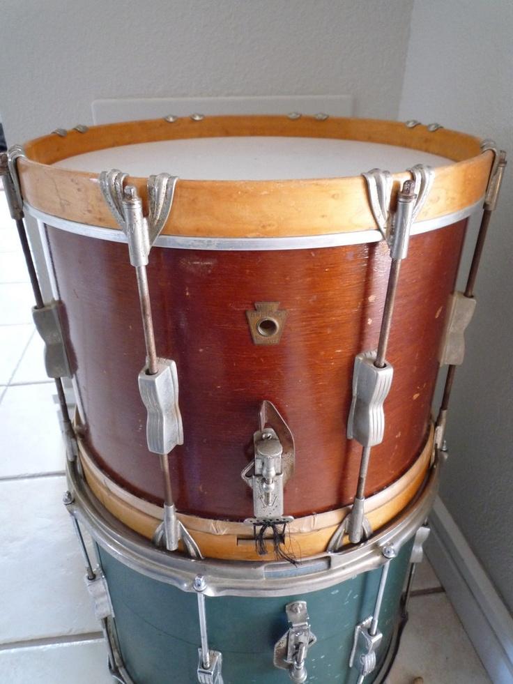 make into side table vintage all original wfl marching snare drum via etsy. Black Bedroom Furniture Sets. Home Design Ideas