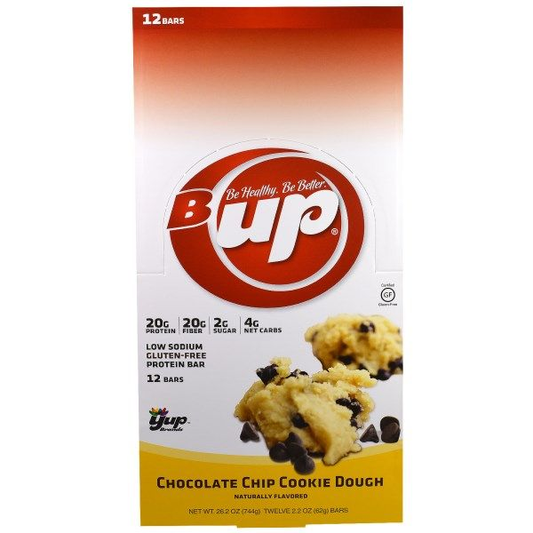 YUP, ビーアップ, プロテインバー, チョコレートクッキー, 12個, 各2.2オンス (62 g)