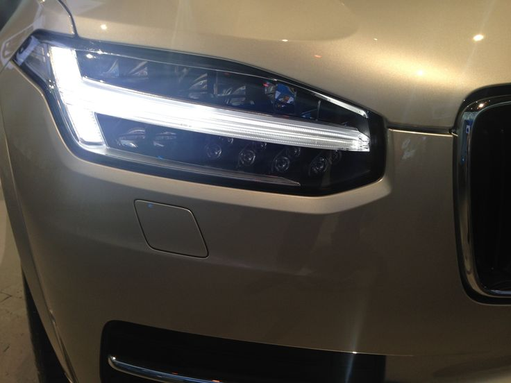 Thors Hammer Volvo >> A close up view of the Thors Hammer headlights of the 2016 Volvo XC90. The Thors Hammer lights ...