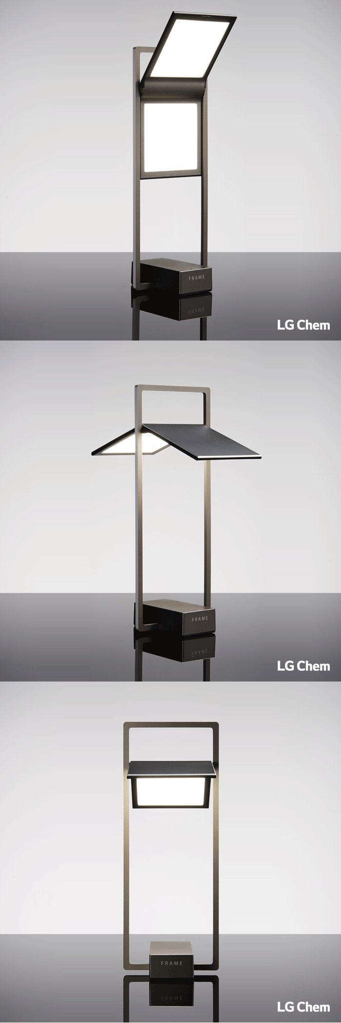 FRAME is made with 100x100mm LG Chem OLED Light panels. Unique designs such as FRAME are possible with OLEDs. FRAME will be commercially available soon. Please stay tuned. www.lgoledlight.com #LGChem #OLED #light #lamp #lighting #designs