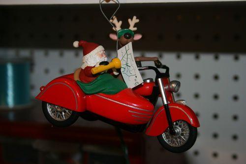 hallmark keepsake christmas ornament    santa and reindeer