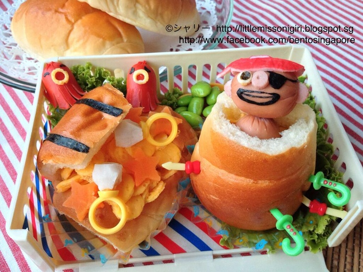 Pirate and Treasure Chest Bento