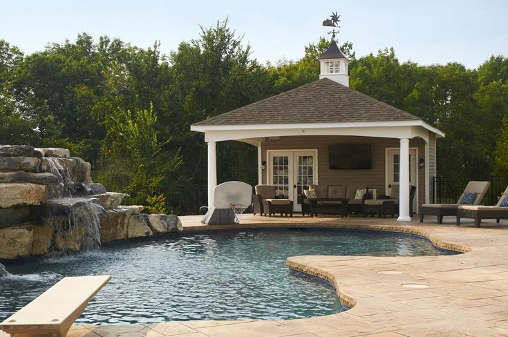 22 best backyard pavilions pool pavilions amish for Custom pool cabanas