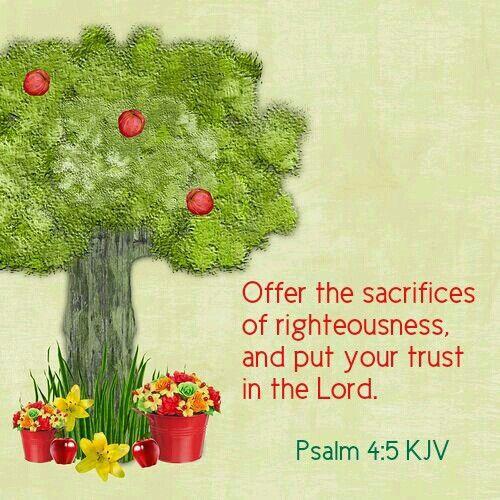 Psalm 4:5 KJV