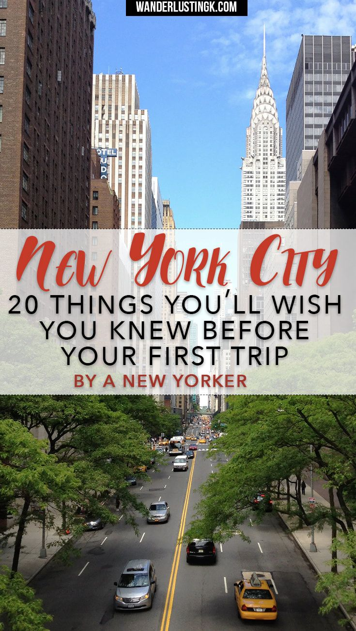 Visiting NYC for the first time? Read 20 insider New York travel tips by a New Yorker with local secrets and things you'll want to know for your NYC visit.