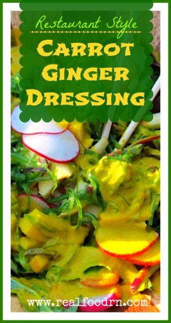 Carrot Ginger Dressing {restaurant style}