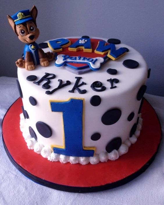 Super Cute PAW Patrol 1st birthday cake