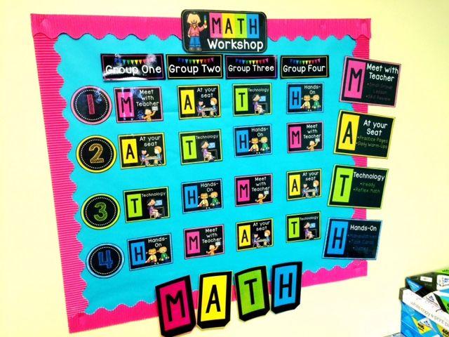 Sweet Tooth Teaching: My Classroom--Math Workshop Rotation Board