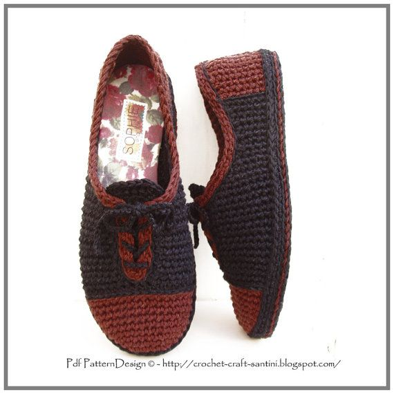 PDF INSTANT DOWNLOAD!  This listing is a 2 in 1-pattern-pack for Leather-Look Lace-Up Slipper Crochet Pattern + CROCHET-SOLES, insoles and finishing sole-treatment.  Customized Sole-Method, Suitable for any foot-size, and applies to ANY crochet/knit slipper. Detailed step-by-step instructions with pics! GREAT NEWS FOR STANDARD FOOT-SIZES: Included in the sole-pattern, is now instructions for 4 standard sole-sizes. Full stitch-diagram for each size, with actual-size foot- templates in the…