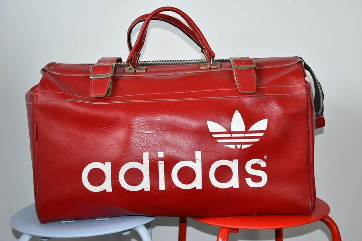 Adidas - Leather bag by SweetSpicyVintage on Etsy