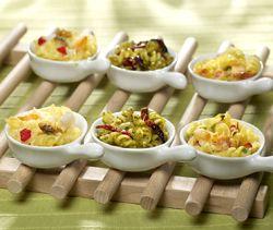 3 minipannetjes (pasta met pesto, pasta met zeevruchten, pasta met mediterrane groentemix) - Colruyt Culinair !