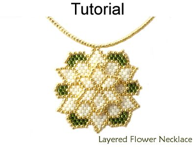 Beaded Layered Poinsettia / Dahlia Flower Necklace Beading Pattern Tutorial | Simple Bead Patterns