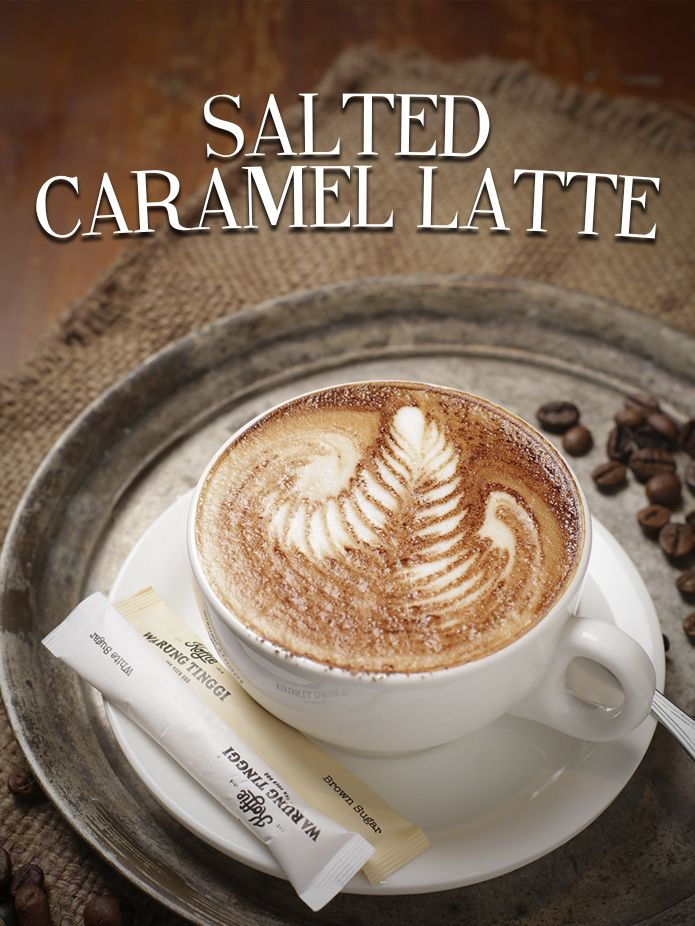 Salted Caramel Latte #yummykoffie#koffieWarungTinggi#OPCOIndonesia