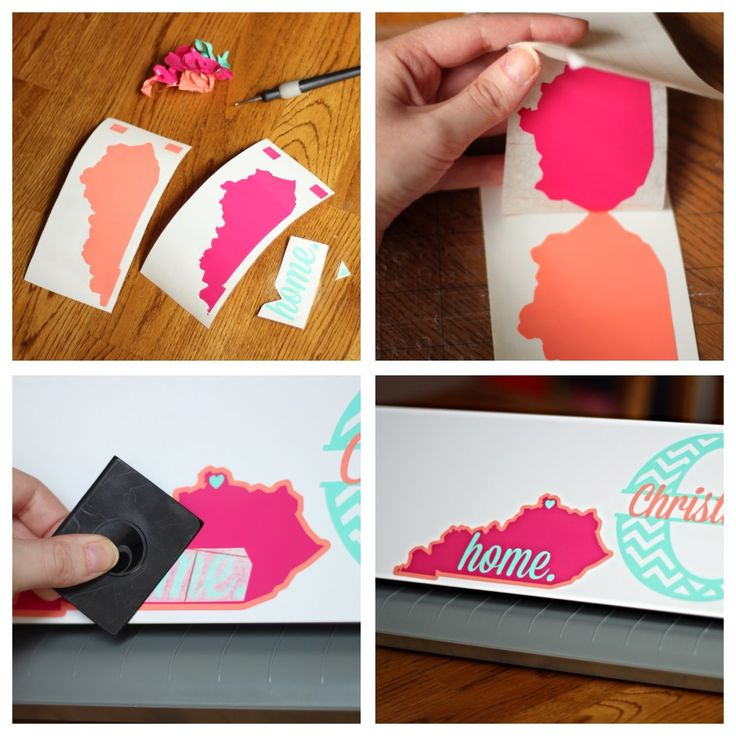 How To Layer Vinyl and Make a {Cute & Feminine} Home State