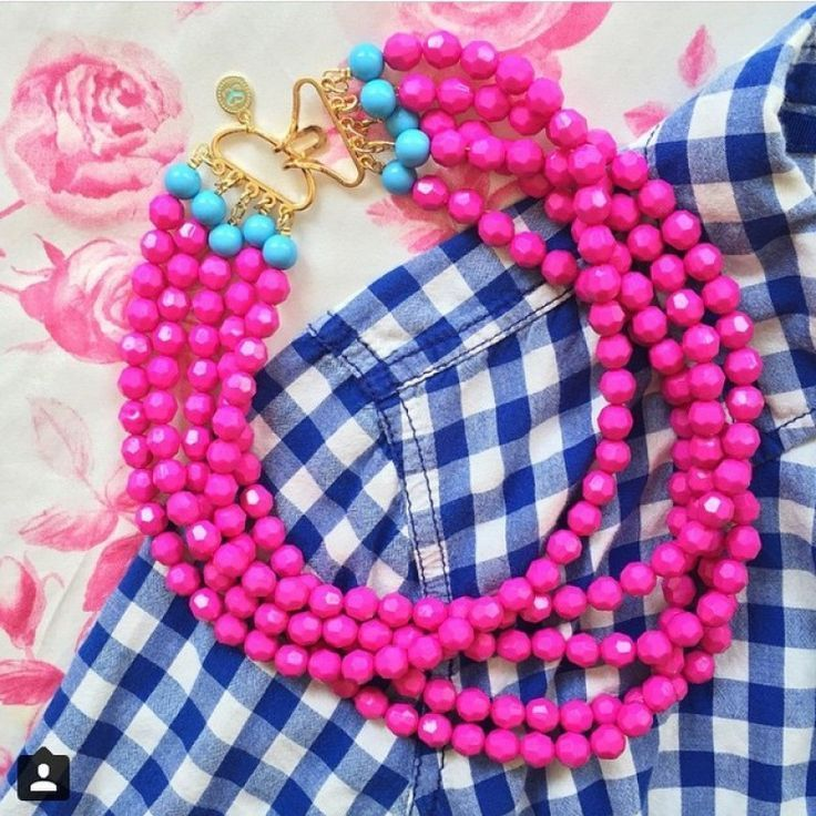 Pink Dana Necklace -- Just like their namesake, these necklaces are sweet, bright and sure to delight! #PreppyJewelry, Pink Statement Necklace, Pink Bead Necklace,
