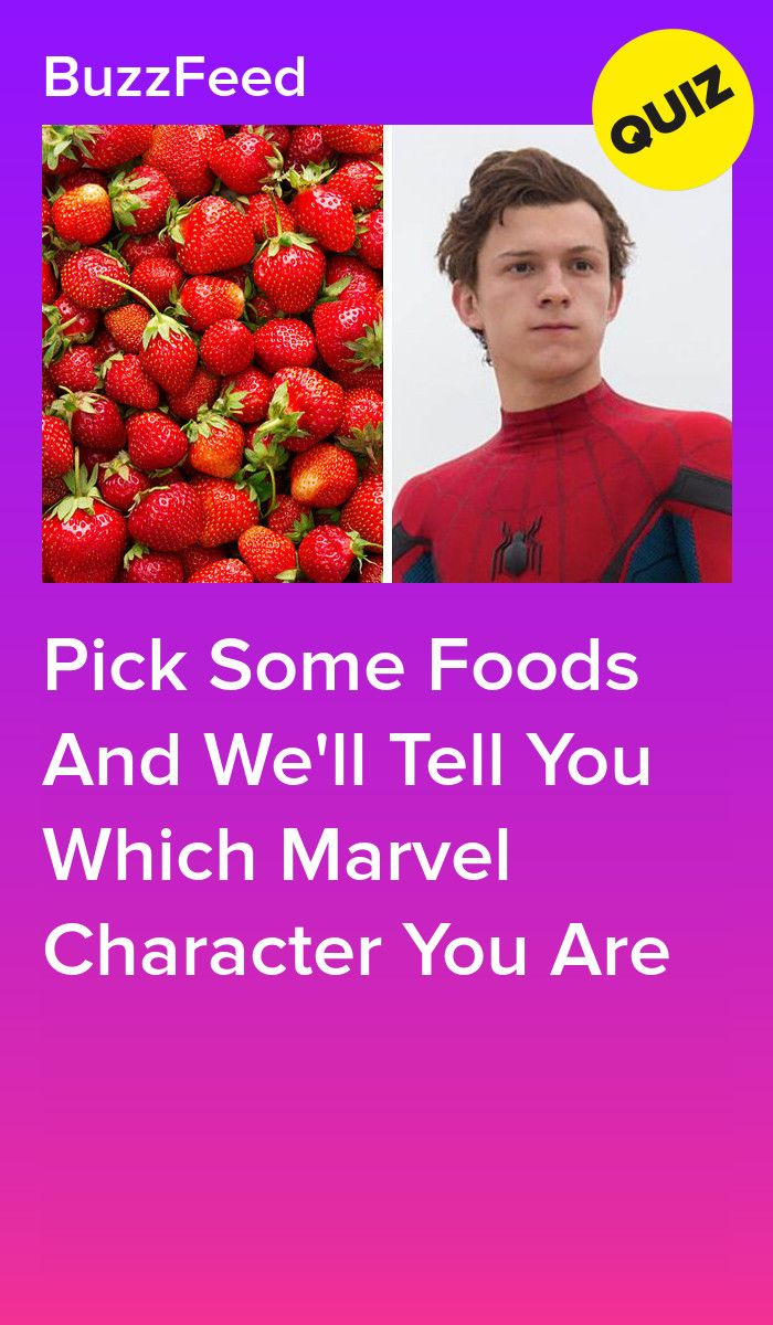 Pick Some Foods And We'll Tell You Which Marvel Character
