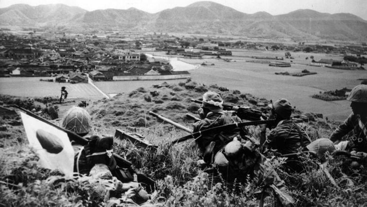 Imperial Japanese Army troops look out over a ridge for possible enemy Chinese positions at a strategic point on the island of Chusan (Zhoushan) during the Second Sino-Japanese War. Japanese incursions into Chinese territories began as early as 1931. Full-scale war erupted in 1937 with the Marco Polo Bridge incident in which a dispute between Japanese and Chinese troops escalated into battle. Many scholars consider this to be the spark which ignited World War II. Chusan Island (Zhoushan…