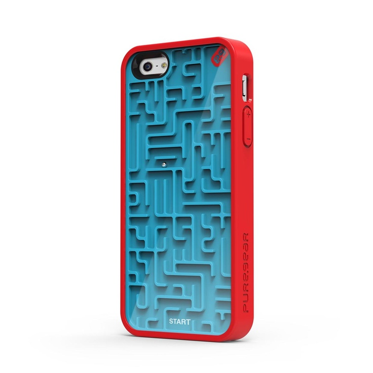 Navigate the silver ball through the maze even when your phone is unplugged IPhone 5 case